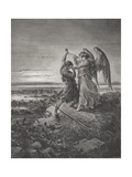 Jacob Wrestling with the Angel  Genesis 32:24-32  Illustration from Dore's 'The Holy Bible' …