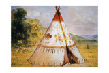 Teepee of the Crow Tribe  C1850