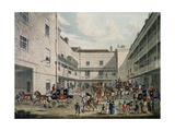 Royal Mail Coaches Leaving the Swan with Two Necks Inn  Lad Lane  Engraved by F Rosenberg  1831