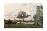 Haycart Beside a River