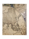 Section of 'Nova Totius Terrarum Orbis Tabula' (World Map) Showing Asia  C1655-58