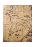Section of 'Nova Totius Terrarum Orbis Tabula' (World Map) Showing South America  C1655-58