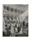 Daniel Interpreting the Writing on the Wall  Daniel 5:25-28  Illustration from Dore's 'The Holy…