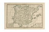 Spain and Portugal  from 'Atlas De Toutes Les Parties Connues Du Globe Terrestre' by Guillaume…