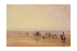 On Lancaster Sands  Sunset (Crossing Lancaster Sands) C1835