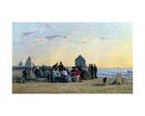 Beach Scene at Trouville - Sunset  1867