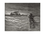 Jesus Walking on the Sea  John 6:19-21  Illustration from Dore's 'The Holy Bible'  Engraved by…