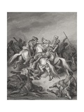 Abishai Saves the Life of David  Samuel 2:17  Illustration from Dore's 'The Holy Bible'  Engraved…