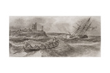 Life Boat Rowing to the Rescue of a Foundering Sailing Ship  Engraved by Thomas Milton…