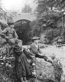 Children by a Mountain Stream  C1900
