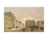 View of the Facade of the Louvre  the Rue De Rivoli and the Palais Royal  1855