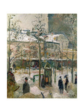 Boulevard De Rocheouart in Snow  1878