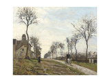 Road in Louveciennes  1870