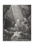 Daniel in the Den of Lions  Daniel 6:16-17  Illustration from Dore's 'The Holy Bible'  Engraved…