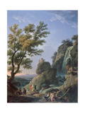 Landscape with Waterfall and Figures  1768