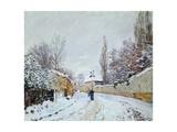 Road under Snow  Near Louveciennes  1876