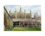New College Cloisters with Gardener  1887