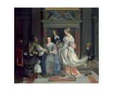 An Interior with Ladies and Gentlemen at Cards  Mid-1660s