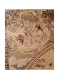 Top Left Section of 'Nova Totius Terrarum Orbis Tabula' (World Map) Showing Astrological Signs of…