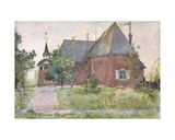 Old Sundborn Church  from 'A Home' Series  C1895