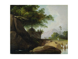 Indian Landscape with Temple  C1815
