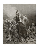 Christian Knights Fight Saracens  Illustration from 'Bibliotheque Des Croisades' by J-F Michaud …
