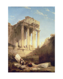 Baalbec - Ruins of the Temple of Bacchus  1840