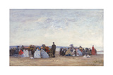 Beach Scene Near Trouville  C1863-66