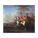 King George II (1683-1760) at the Battle of Dettingen  with the Duke of Cumberland and Robert …