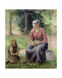 Peasant Woman and Her Little Girl  C1893