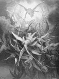 The Fall of the Rebel Angels  from Book I of 'Paradise Lost' by John Milton (1608-74) C1868