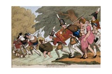 Soldiers on a March  Engraving by GMWoodward  Published 1811