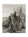 King Louis IX (1217-70) before Damietta  Illustration from 'Bibliotheque Des Croisades' by J-F…