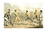 A Prize Fight  from 'The National Sports of Great Britain'  Engraved by JH Clarke  1823