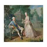 Louis Jean Marie De Bourbon  Duc De Penthievre with His Daughter  Louise-Marie Adelaide