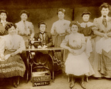 Dressmakers in a Workshop  C1890-1900