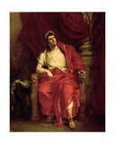 Portrait of Francois Joseph Talma (1763-1826) as Nero in 'Britannicus' by Jean Racine (1639-99)…