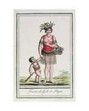 A Woman from Easter Island with Her Child  from 'Encyclopedie Des Voyages'  Engraved by J…