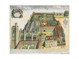 New College  Oxford  from 'Oxonia Illustrata'  Published 1675