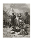A Heroine Florine of Burgundy  Illustration from 'Bibliotheque Des Croisades' by J-F Michaud  1877