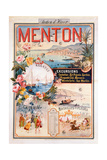 Poster Advertising Menton as a Winter Resort