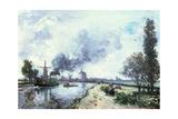 Dutch Landscape with Windmills  1868