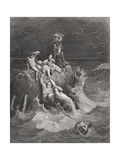 The Deluge  Illustration from Dore's 'The Holy Bible'  Engraved by Pannemaker  1866