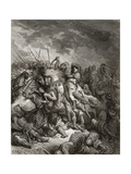 Richard I (1157-99) the Lionheart in Battle at Arsuf in 1191  Illustration from 'Bibliotheque Des…