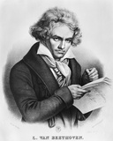 Ludwig Van Beethoven (1770-1827) Composing His 'Missa Solemnis'  Engraved by Charles or Pierre…
