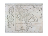 Map of Southern Italy  Corsica  and Sardinia known in Ancient Times as Great Greece or Magnia…