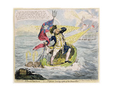 A French Hail Storm  or Neptune Losing Sight of the Brest Fleet  Published by Hannah Humphrey in…