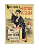 Poster Advertising Dr Peterson's Toothpastes