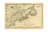 Eastern Canada  Newfoundland  Nova Scotia and St John Island  from 'Atlas De Toutes Les Parties…