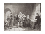 Mary Queen of Scots (1542-87) Compelled to Sign Her Abdication in Lochleven Castle in 1567  from…